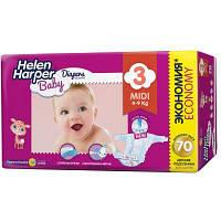 Подгузник Helen Harper Baby Midi 4-9 кг 70 шт (2310399)