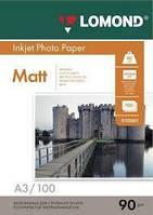 Бумага фото LOMOND А3 90 гр. 100 листов