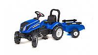 Детский трактор на педалях с прицепом Falk 3080AB NEW HOLLAND