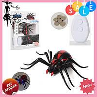 Радиоуправляемый черный паук 1388 на пульте управления   игрушка на радиоуправлении! Топ продаж