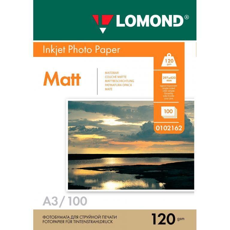 Бумага фото LOMOND А3 120 гр. 100 листов