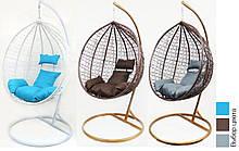 Подвесное кресло-качалка кокон B-183 В с подушками ( разные цвета)