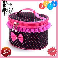 Тканевая косметичка Bow Storage Bag | красивая вместительная сумка для косметики | органайзер под косметику! Топ продаж