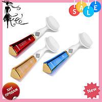 Ультразвуковая щетка для умывания и чистки лица Pobling face cleaner ЗОЛОТАЯ! Топ продаж