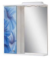 Зеркало для ванной 60-01 левое Голубые цветы