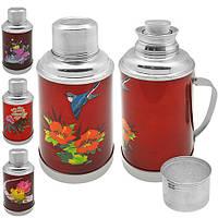 """Термос """"Китай"""" K264 металл / стекло, 0.8л, разные цвета, электрочайники, чайник, бытовая техника, электрический чайник"""