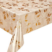 Клеенка ПВХ Golden MA-2926, ламинированная, золото/серебро, размер 1,37*20 м, клеенка на стол, рулон клеенки,