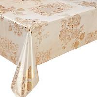 Клеенка ПВХ Golden MA-2928, ламинированная, золото/серебро, размер 1,37*20 м, клеенка на стол, рулон клеенки,