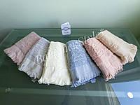 """Лицевые махровые жаккардовые полотенца """"Sikel"""" с короткой бахромой, 50*90см, Турция"""