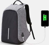Городской рюкзак антивор Bobby Backpack от XD Design СЕРЫЙ реплика! Топ Продаж
