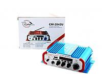 Підсилювач звуку UKC AMP CM 2042U, компактний підсилювач звуку, підсилювач потужності