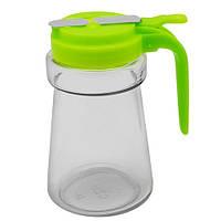 Диспенсер для масла/соуса Stenson MS-2872, стекло, объем 300 мл, разные цвета, емкость для масла, бутылка под масло