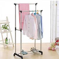 Стойка вешалка для одежды двойная Double Pole! Топ продаж