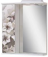 Зеркало для ванной 60-01 левое Серые цветы