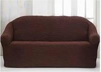 Накидка на диван №20 Коричневый цвет! Топ Продаж