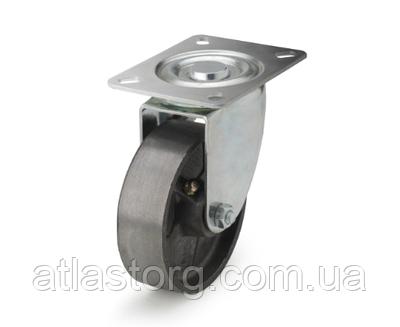 Колеса термостійкі з чавуну діаметр 80 мм з поворотним кронштейном
