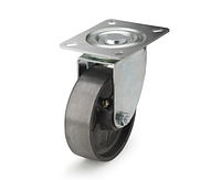 Колеса термостойкие из чугуна диаметр 100 мм с поворотным кронштейном