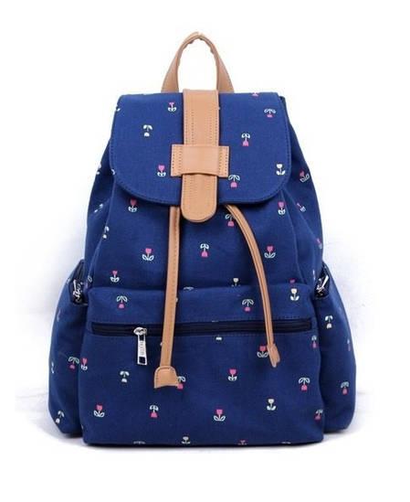 Женский рюкзак в цветочек