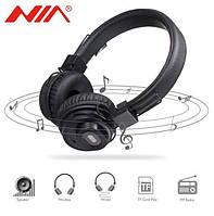 Беспроводные Bluetooth наушники-стерео колонка NIA X5 SP! Топ продаж