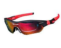 Очки велосипедные поляризованные GUB 5300 с тремя сменными линзами (черно-красные), фото 1