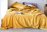 Темно-желтый однотонный комплект из ранфорса, хлопок