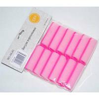 Бігуді для створення локонів gladiolus BG-06-01 діаметр 20 мм., Паролоновий, рожеві, бігуді для волосся