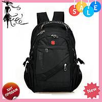 Швейцарский городской рюкзак SwissGear 8810 с USB, AUX, дождевиком и часами! Топ продаж
