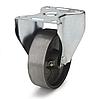 Колеса термостойкие из чугуна диаметр 100 мм с неповоротным кронштейном