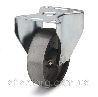 Колеса термостійкі з чавуну діаметр 100 мм з неповоротним кронштейном