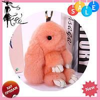 Брелок кролик модные разноцветные аксессуары в виде зайца и кролика из натурального меха! Топ продаж