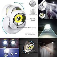 LED светильник с датчиком движения Atomic Light Angel!Топ Продаж