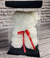 Мишка из 3D роз 25 см в красивой подарочной упаковке мишка Тедди из роз! Топ продаж