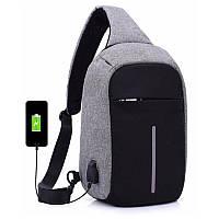 Сумка антивор в стиле Bobby mini. Рюкзак-антивор с USB портом Bobby Backpack! Топ продаж