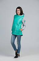 Стёганая женская курточка с капюшоном, фото 1