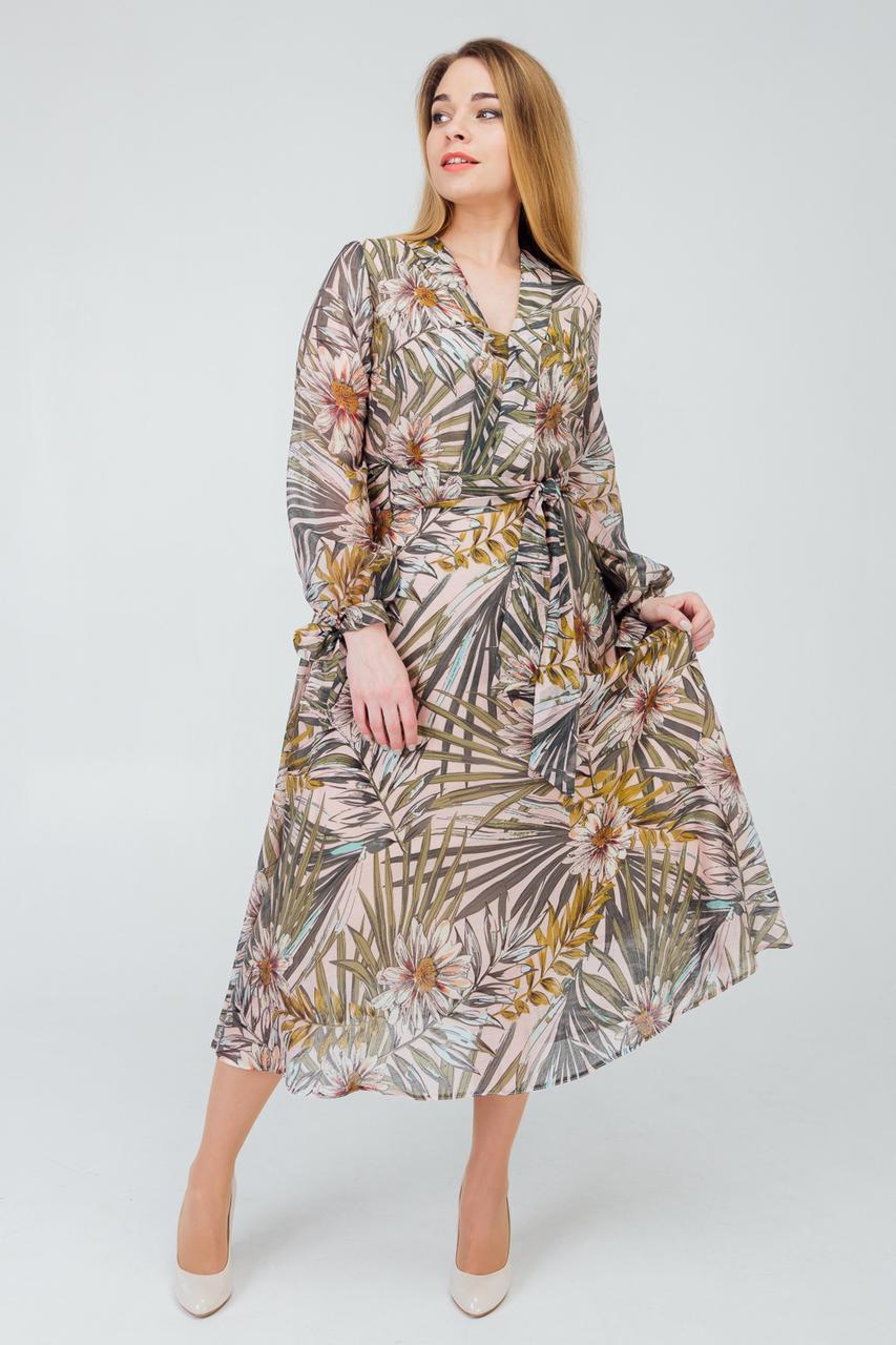 Платье с шифона с 50 по 56 размер 2020