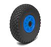 Колесо пенополиуретановое проколобезопасное диаметр 260 мм, нагрузка 80 кг (сине-черное)