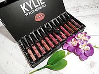 Набор помад KYLIE matte lipstick жидкая матовая Vacation 12 шт.!Топ Продаж