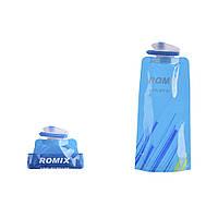 Спортивная бутылка ROMIX 0.7 л с карабином Синяя КОД: RH45BL