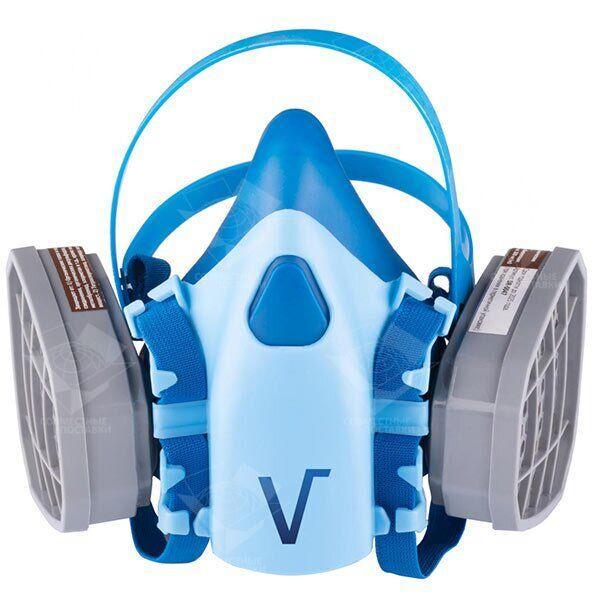 Респиратор VITA Химик-2 (байонетное крепление под фильтр) с двумя химическими фильтрами (аналог 3М 7500)
