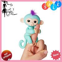 Интерактивная ручная обезьянка Fingerlings Happy Monkey Bella БИРЮЗОВЫЙ! Акция