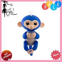 Интерактивная ручная обезьянка Fingerlings Happy Monkey Bella СИНИЙ! Акция