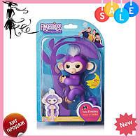 Интерактивная ручная обезьянка Fingerlings Happy Monkey Bella ФИОЛЕТОВЫЙ! Акция