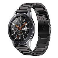 Стальной ремешок браслет для смарт-часов BeWatch для Samsung Galaxy Watch 46 мм Черный (1020401) КОД: 1020401.4