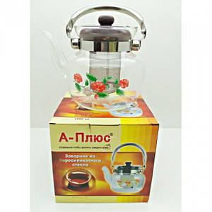 Скляний чайник-заварник А-Плюс TK-1041 800 мл