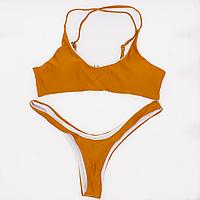 Купальник раздельный женский Lux4ika L Оранжевый (nr1-310) КОД: nr1-310