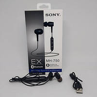 Беспроводные вакуумные Bluetooth Наушники Sony MH-750 Чёрные, (Оригинал)