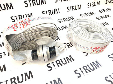 Шланг пожарный/рукав ПВХ с гайками коннектором для фекальных насосов., фото 2