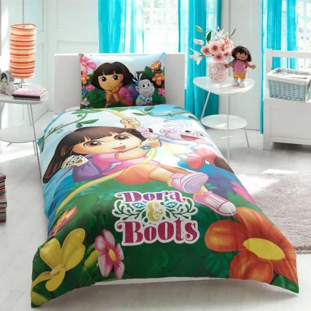 Постельное белье Tac Disney - Dora & Boots подростковое