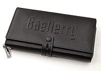 Новый мужское портмоне клатч кошелёк Baellerry Guero Байлерри S1393, цвет черный! Акция
