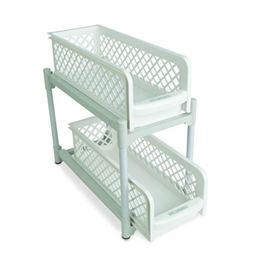 Органайзер для хранения для ванной или кухни Basket Drawers Portable на 2 съемные секции (509)! Акция